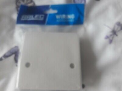 Cooker Outlet Plate Connection Cover White Blank Front 45A  Oven /Hob NEW • 7£