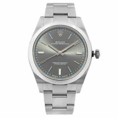 $ CDN6995.55 • Buy Rolex Oyster Perpetual 39 Stainless Steel Grey Dial Automatic Mens Watch 114300
