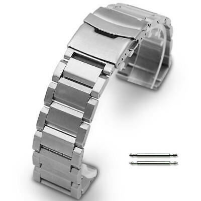 $16.95 • Buy Stainless Steel Metal Bracelet Replacement Watch Band Strap Double Locking Clap