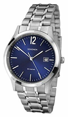 Sekonda Men's Quartz Watch With Blue Dial Analogue Display And Silver Stainless • 30.99£