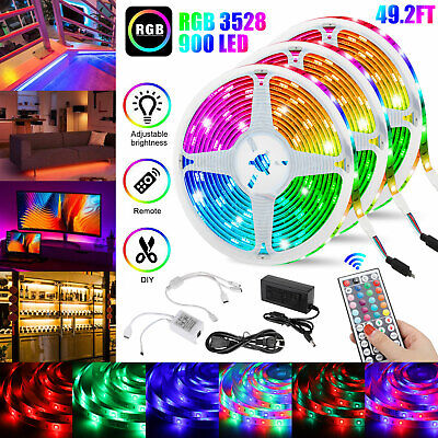 $29.97 • Buy 49FT Flexible Strip Light RGB 900 LED SMD Remote Fairy Lights Room TV Party Bar