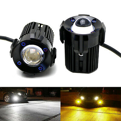 $47.49 • Buy 1-Inch White/Yellow Dual Color 20W Mini LED Projector Lens Driving Fog Light Kit