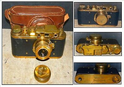 Luftwaffen Vintage 'Russian Leica Replica' 35mm Brass Camera  • 150£