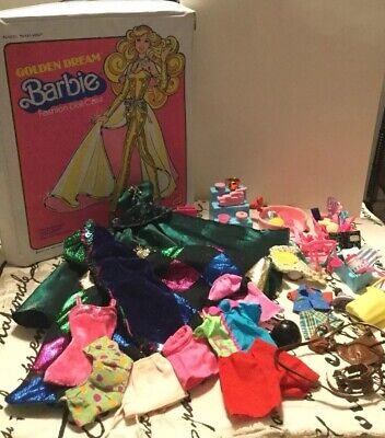 $ CDN67.86 • Buy Vintage Barbie Golden Dream Vinyl Case Plus Clothes And Lots Of Accessories Lot