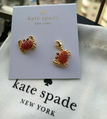 $ CDN32.43 • Buy KATE SPADE New York Shore Thing Pave Crab Gold Stud Earrings