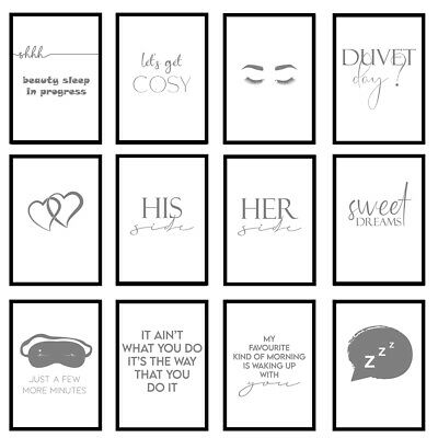 Grey Bedroom Funny Quote Prints Wall Art A3/A4/A5 - Unframed Posters  • 5.95£