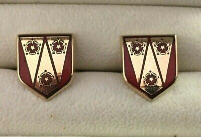 Fabulous Lancashire Cricket Red Rose Gold Plated Cufflinks  • 15£