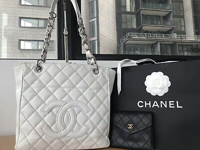 AU1700 • Buy Authentic Chanel PST Petite Caviar Calf Skin Tote+Wallet, Can Sell Separately