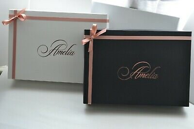 Large Rose Gold Personalised Gift Boxes With Rose Gold Ribbon & Bow • 8.99£