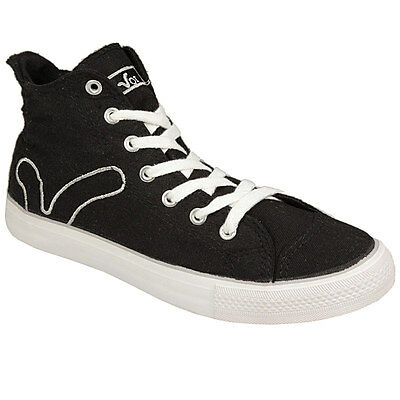 Ladies Girls Black Hi Top Trainers Pumps Plimsolls From Voi Jeans Size 3 Uk Bnib • 5.95£
