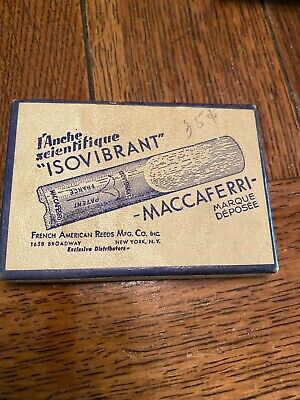 $13.56 • Buy Vintage Isovibrant Maccaferri Fench American Reed EMPTY Box LID ONLY Sax Tenor