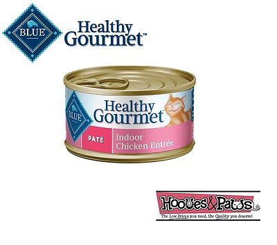 Blue Buffalo Healthy Gourmet Wet Canned Cat Food Adult Indoor Chicken Pate 3oz  • 23.60£
