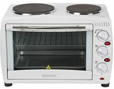 New Igenix 26 Litre Table Top Mini Oven & Grill With Double Hot Plate Hobs A0047 • 500£