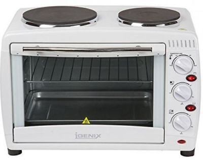 New Igenix 26 Litre Table Top Mini Oven & Grill With Double Hot Plate Hobs A0011 • 500£