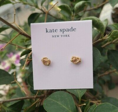 $ CDN26.78 • Buy Kate Spade New York Loves Me Knot Earrings Pave Stud Earrings