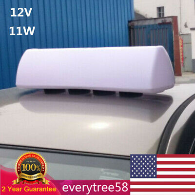$72 • Buy Strong Magnets LED Blank Taxi Cab Sign Roof Top Topper Car Light Bright Light