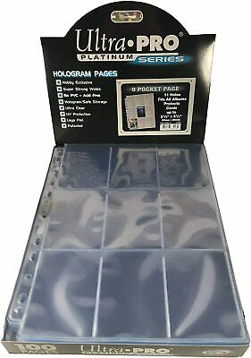 Ultra Pro 9-pocket Trading Card A4 Sleeves Secure Platinum Series Pages 10 - 100 • 3.24£