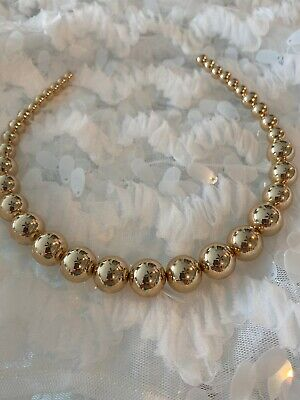 $11.05 • Buy NWT ZARA Large Circles Light Weight  HEADBAND GOLDEN ONE SIZE #1251A