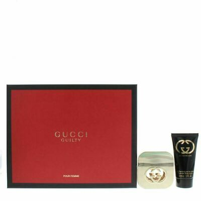 Gucci Guilty Perfume Gift Set For Her - 30ml EDP Spray & 50ml Body Lotion *NEW* • 69.99£