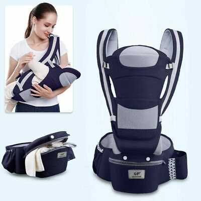 Newborn Infant Baby Carrier Hip Seat Ergonomic Adjustable Wrap Sling Backpack • 39.99£
