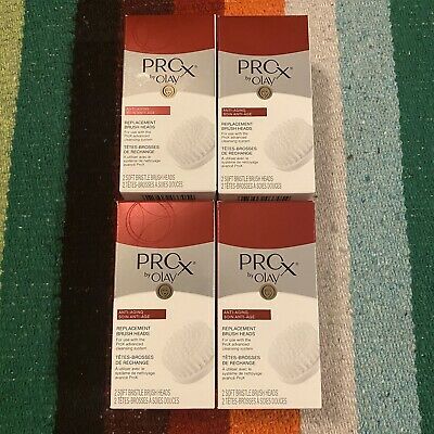 AU49.87 • Buy 4 Pack ProX By Olay REPLACEMENT Soft Brush Heads Anti-Aging 8 Total NEW SEALED