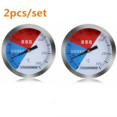 2x 300℃ 2'' Steel Barbecue BBQ Smoker Grill Thermometer Temperature Gauge UK • 6.99£