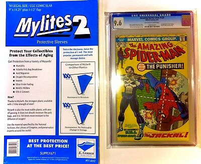 $37.77 • Buy 50 Mylites 2 Mil Mylar Legal Document Or Graded Comic Book Bags CGC CBCS PGX