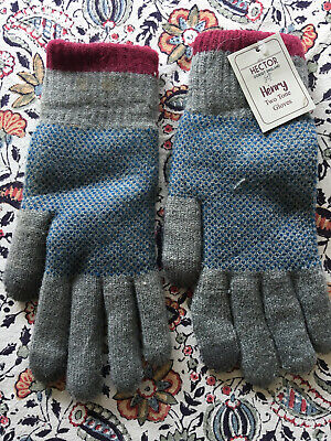 Forever England Men's Warm Winter Gloves. Grey/Blue. BNWT Size Small • 9£