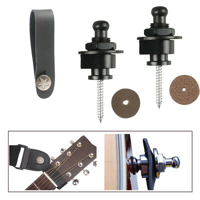 $ CDN10.71 • Buy Acoustic Electric Guitar Strap Lock Metal Button & Leather Guitar Strap Button