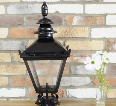 60cm Black Vintage Victorian Garden Street Post Lantern Lamp Top Glass Light • 74£