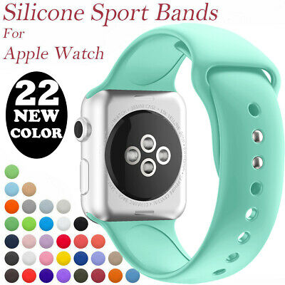 $ CDN7.19 • Buy Für Apple Watch Sports Armband Series 6/5/4/3 Silikon Band 42mm/44mm Ersatz Loop