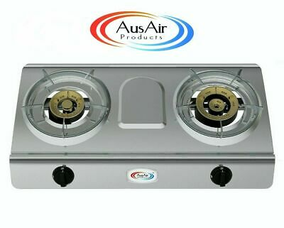 AU114 • Buy Double Burner Wok Camping Cooker Gas Stove Home Outdoor Cooking Ware