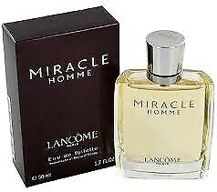 Vintage Lancome Miracle Homme 100ml Edt For Men Rare- NEW & SEALED • 134.39£