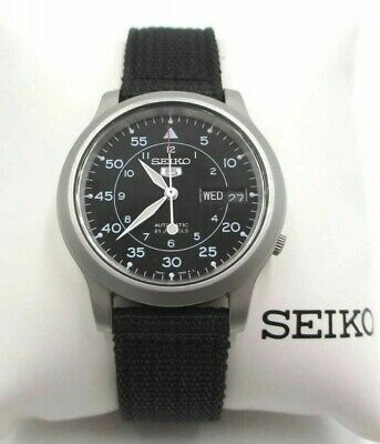$ CDN186.37 • Buy Seiko 5 7S26-02J0 Black Dial Military 21 Jewels Automatic Wrist Watch