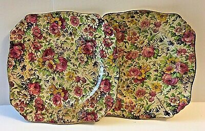 $ CDN32.50 • Buy Vintage Pair (2) Royal Winton Summertime Chintz Square Dish 6 1/2  Wide