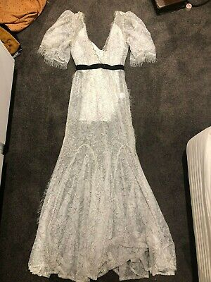 AU100 • Buy Lace Linen Full Length Dress From Alice McCall