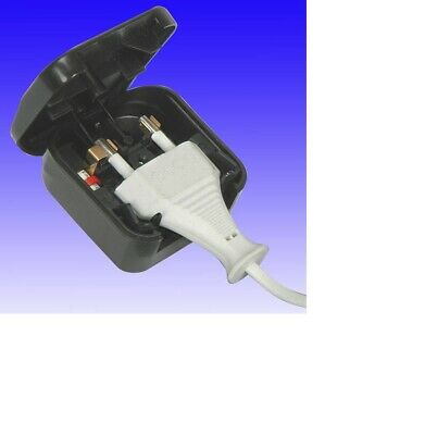 1 X Black 240v PLUG Adapter Adaptor From EURO 2 Pin To UK 3 Pin 5A Fused • 3.99£