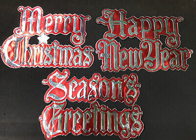 $ CDN5.79 • Buy Vintage Foil Christmas Decorations-Silver & Red