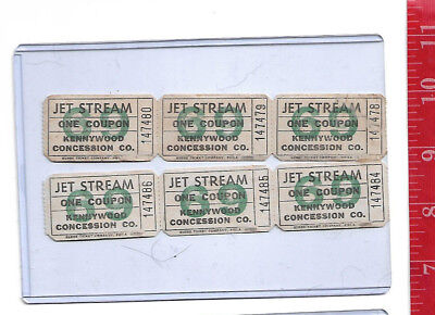 $9 • Buy Vintage Lot 1969 Jet Stream Tickets Kennywood Park Pennsylvania
