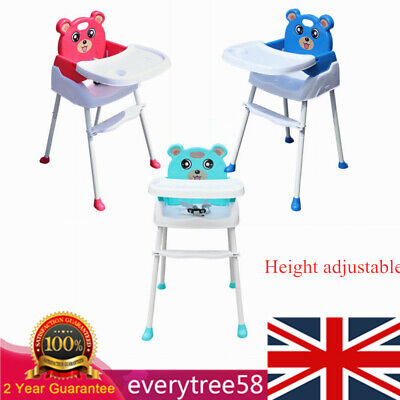 4-in-1 Baby Highchair Infant High Feeding Seat Toddler Table Chair Portable NEW! • 25.40£