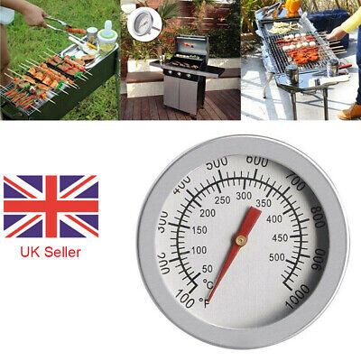 50-500 Stainless Steel Cooking BBQ Smoker Grill Thermometer Temperature Gauge • 4.79£