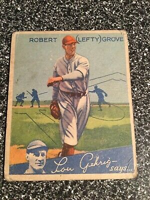 $159 • Buy 1934 Goudey #19 Lefty Grove Fair/Good - SKU409557*q