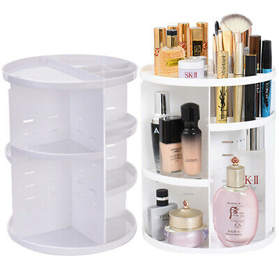 360 Degree Rotating Cosmetic Case Organizer Storage Perfume Display Stand Box • 9.95£