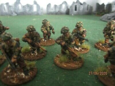 28mm WWII PAINTED BRITISH PARATROOP SECTION FOR BOLT ACTION OR SIMILAR • 30£