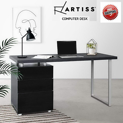 AU199.95 • Buy Artiss Computer Desk Office Home Study Table Student Metal Drawer Cabinet Black