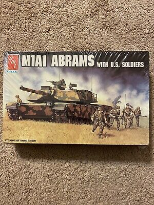 $19.99 • Buy M1A1 Abrams Tank W/ 50 American Soldier Figures # 8649 1/72 Scale AMT Ertl 1988