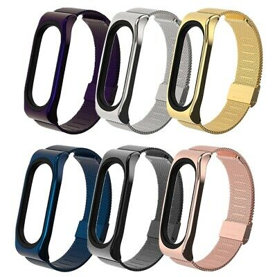 $7.89 • Buy Stainless Steel Metal Case Watch Strap Replacement Fit For Xiaomi Mi Band 3/4