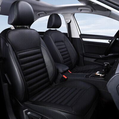 $ CDN42.62 • Buy Black Car Front Seat Cover Breathable PU Leather Protection Cushion Mat Non-slip