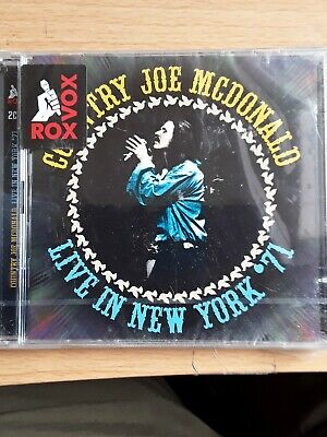 Country Joe McDonald - Live In New York '71 (2016)  2CD  NEW/SEALED  SPEEDYPOST • 6£