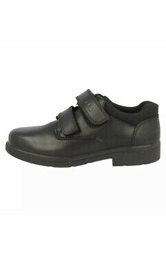 Clarks Deaton Black Leather School Shoes In Size UK 8.5H Infant • 17.42£
